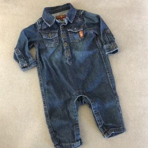 NWOT  7 For All Mankind Baby denim Romper